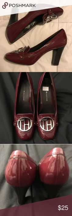 Tommy Hilfiger Patent 6.5 Tiara Pumps 🎄Christmas Used only inside the house.  No noticeable scuffs on the bottom of shoes. Tommy Hilfiger Shoes Heels