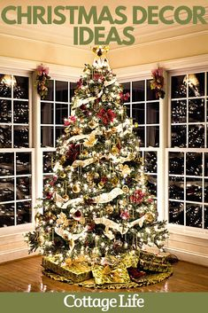 Decorate for the holiday season with these classic Christmas decor ideas. Deck out your Christmas tree, build a gingerbread house, and more. #christmas #christmasdecor #christmastree #gingerbreadhouse #christmaslights Christmas Backdrops, Christmas Themes, Christmas Fun, Christmas Decorations, Holiday Decor, Christmas Garlands, Cottage Christmas, Outdoor Christmas, Homemade Christmas