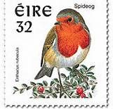 Spideog=Robin / Irish stamp