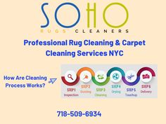 Are you worried about the cleaning of the carpets? SoHo Rug Cleaning is a reliable & professional carpet cleaning & rug cleaning services company in NYC that helps you out with all the carpet cleaning techniques. Get an appointment today at Cleaning Services Company, Professional Carpet Cleaning, How To Clean Carpet, Soho, Carpets, Nyc, Rugs, Farmhouse Rugs, Farmhouse Rugs