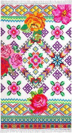 Prosop de Plaja Yucatan Beach - 100x180 cm Modern Beach Towels, Mexican Designs, Bohemian Rug, Quilts, Blanket, Rugs, Crochet, Happy, Fabric