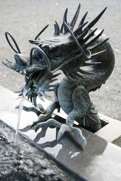 Dragon's fountain    Kawaguchi-Ko, Japan.