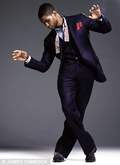 Money Maven reference 1 - Usher wearing Tom Ford. Love the 3 piece with a pocket square - very slick