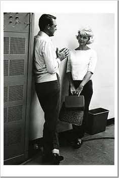 """Cary Grant and Doris Day, most likely during the filming of, """"That Touch of Mink"""", released in 1962."""