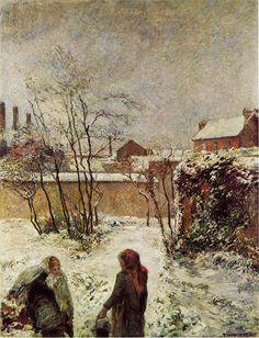 Paul Gauguin The garden in winter, rue Carcel, 1883.