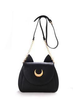 Seifuku Sailor Moon Luna Artemis Bag #1980s #30-50 #app-women #handbags #meta-filter-color-black #newacc