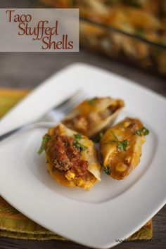 Taco Stuffed Shells via @Karly Campbell Buns In My Oven