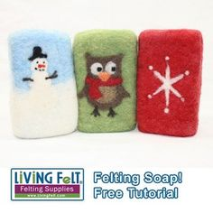 FREE Felting Over a Bar of Soap with Needle Felted Designs