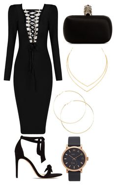 """""""You were looking for me?"""" by genesiswagg on Polyvore featuring Alexandre Birman, Alexander McQueen, Lana, Marc Jacobs, blackandgold, black and marcjacobs"""