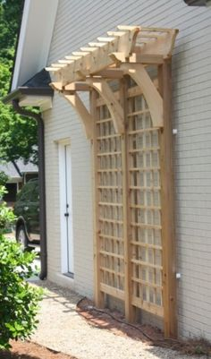 Trellis for boring outside wall