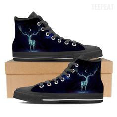 Patronus Dark Men High Top Canvas Shoes