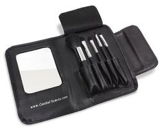 Coastal Scents Classic 5 Piece Brush Set by Coastal Scents. $9.95. Synthetic taklon bristled brushes, 100% Cruelty-Free. Functional mirror for touch ups while traveling. Set includes five essential high quality synthetic brushes: Blush, eye shadow, small concealer, lip and angle liner brush. Easy grip ferrule handles for precision makeup application. Convenient protective leatherine case. Create the perfect look no matter where you are, at home, the office, or ev...