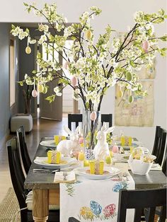 20 Ideas for Spring Home Decorating with Blooming Branches. Stick budding branches in vase with water.