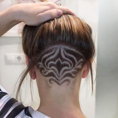[New] The 10 Best Hairstyles Today (with Pictures) Undercut Hairstyles Women, Undercut Long Hair, Undercut Designs, Haircut Designs, Haare Tattoo Designs, Flame Hair, Bleached Hair Repair, Creative Hair Color, Hair Art