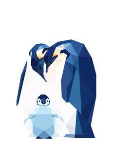 Emperor Penguin family. https://www.etsy.com/nz/shop/tinykiwiprints