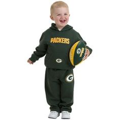 Packers Hoodie and Pant. Do typically put my boys on sweats, but this is one it WAY TOO CUTE & not just bc they are Packers, I swear; Packers Hoodie, Go Packers, Green Bay Packers, Vince Lombardi, Football Season, Full Zip Hoodie, Games For Kids, Canada Goose Jackets, Winter Jackets