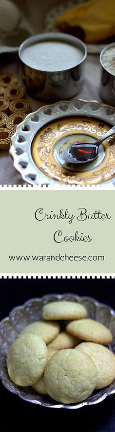 Crinkly Butter Cookies Easy Butter cookies made in less than 30 minutes. Non Chocolate Desserts, Vanilla Essence, Easy Desserts, Sweet Recipes, Camembert Cheese, Cookie Recipes, Easy Meals, Butter, Vegetarian