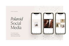 Polaroid Social Media Pack by Studio Standard on @creativemarket
