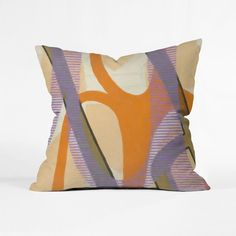 Splash some color into your room with this artistic pillow. Featuring an…