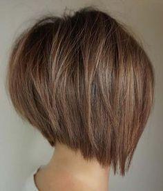 Layered Bob Hairstyles, Short Bob Haircuts, Modern Haircuts, Straight Hairstyles, Medium Hairstyles, Fine Hairstyles, Hairstyles 2018, Formal Hairstyles, Ladies Short Hairstyles