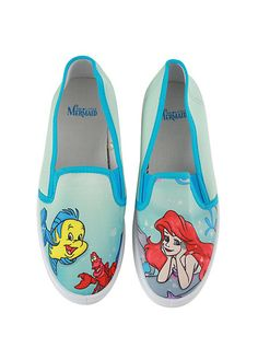 Disney The Little Mermaid Ariel Slip-On Sneakers | Hot Topic