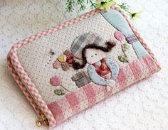 先染拼布材料包 手工布艺diy材料包 倚窗女孩长款钱包售完纪念-淘宝网
