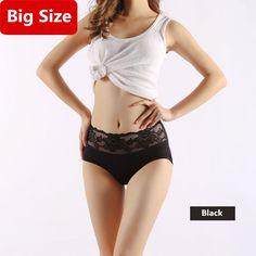 Big Size Underwear Women Briefs Lace Printing M-3XL Breathable Middle Waist  Rose Lingerie For Women Plus Size Panties Ladies c044479ac