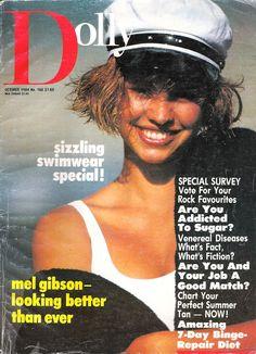 Glossy Sheen: Dolly Magazine, October 1984 Nautical Fashion, Teenage Years, October, Vintage Fashion, Editorial, Vogue, My Wardrobe, Magazine Covers, Retro Vintage