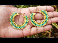 "Tutorial Argollas en superduos, cristales y mostacillas ""LAWN"" Video colaboracion COBEADS.COM - YouTube Bead Jewellery, Bead Earrings, Chandelier Earrings, Crochet Earrings, Earring Tutorial, Beaded Jewelry Patterns, How To Make Earrings, Beading Tutorials, Bead Weaving"