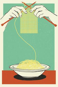 Anna-Parini-Illustration-Spaghetti-Scarf-Essen