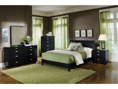 I like the black dressers & night stand (this green looks nice too)