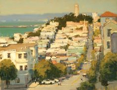 Brian Blood, Late Afternoon on Filbert St., San Francisco, oil, 11 x 14.
