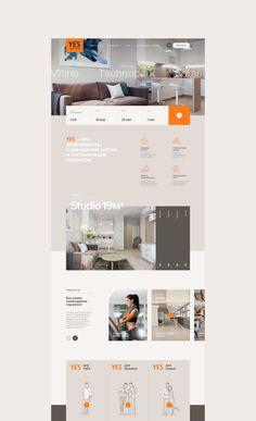 YE'S Apart-hotel on Behance Web Layout, Layout Design, Hotel Website Design, Web Design, Ui Web, Interactive Design, Graphic Design Inspiration, Behance, Bright Colours