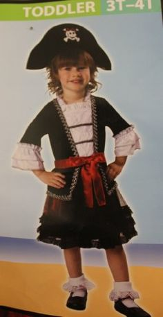 ROYAL PIRATE COSTUME FOR LITTLE GIRLS - 3T-4T -- To view further for this item, visit the image link.