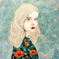 Illustration of Sofia Bonati — Designcollector Art And Illustration, Texture Illustration, Portrait Illustration, Kunst Inspo, Art Inspo, Sofia Bonati, Inspiration Artistique, Arte Popular, Portrait Art