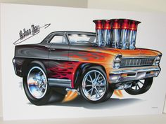 Rohan Day Muscle Cars | got these prints from Rohan at the Hotlanta show and justrealized I ...