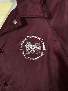 4e1ff136858 Vintage University Of Harvard Business School Windbreaker Jacket 1960s USA  Made