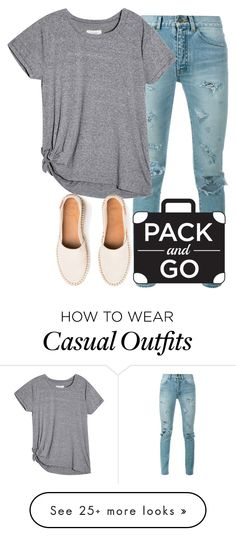 """""""Simple Casual"""" by karen112200 on Polyvore featuring Yves Saint Laurent, tokyo and Packandgo"""