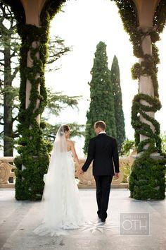Wedding couple at their Lake Como, Italy celebration.