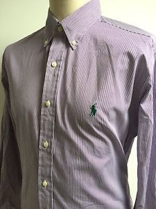 RALPH LAUREN Mens CLASSIC FIT Shirt PURPLE WHITE Pin Striped Size XL BNWOT | eBay