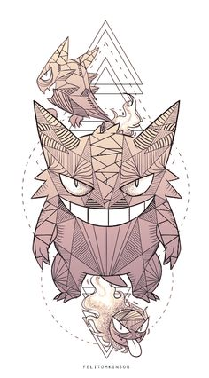 Gengar Tattoo Commission from a few years ago I designed!