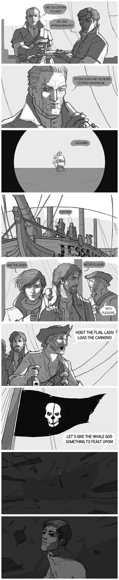 Dishonored Pirates AU no one asked for, but I did it anyway, You're welcome.¯_(ツ)_/¯on tumblr:wehavekookies.tumblr.com/post/…