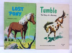 TWO Vintage 60s and 70s Horse Books by FlippingThroughTime on Etsy, $10.00