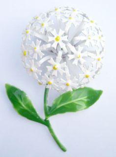 Vintage White Flower Enamel Pin56 | Flickr - Photo Sharing!