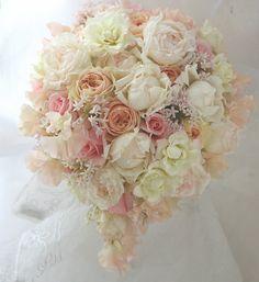 ブーケ淡色  2007年春 シェ松尾天王洲倶楽部さま  : 一会 ウエディングの花