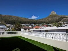 Designer lock up and go with grand accommodation. Open plan lounge, dining room and family room flowing to pool. Separate study. Cookbook kitchen. 4 Bedrooms main luxuriously en suite. Enormous roof deck with Jacuzzi and sublime sea and mountain views. 3 Car garaging and staff quarters. Elevator access to all levels. A must to view. Lions Head Cape Town, Balcony Ideas, Roof Deck, Elevator, Mountain View, Jacuzzi, Open Plan, Separate, Family Room