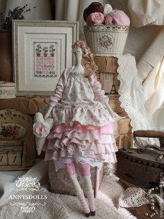 Купить Элоиза - бледно-розовый, розовый, стиль бохо, розы, розочки, бохо, тильда, хлопок