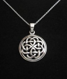 CELTIC KNOT round sterling silver pendant with by elisdesigns