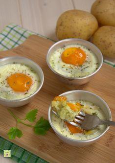 uova in cocotte con pure' alle erbe
