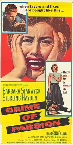 Crime Of Passion (1957) Barbara Stanwyck, Sterling Hayden